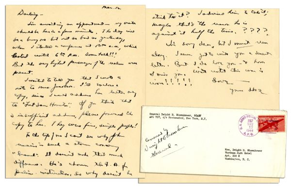 letter of agreement lot detail dwight eisenhower autograph letter signed 11724