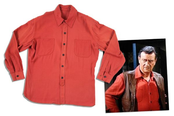 John Wayne Worn Costume Auction