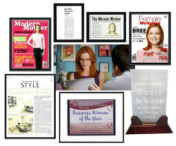 Desperate Housewives Screen-Used Props From The Office of Marcia Cross's Character Bree Van de Kamp -- With COA From ABC Studios