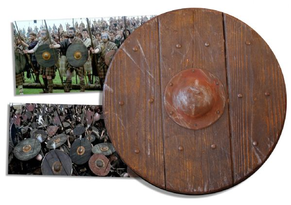 ''Braveheart'' Prop Shield Seen in Onscreen Battles in the 1995 Best Picture Epic