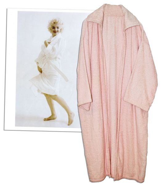 Marilyn Monroe dress auction Marilyn Monroe Pink Robe -- Worn by The Screen Siren on Set of Her 1957 Film Opposite Laurence Olivier -- ''The Prince and the Showgirl''