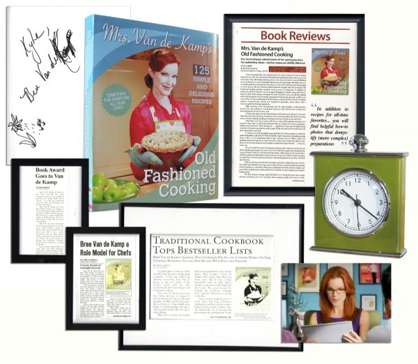 Marcia Cross Signed Desperate Housewives Screen-Used Cookbook -- With Other Screen-Used Props From Her Character Bree's Kitchen Set -- With COA From ABC Studios