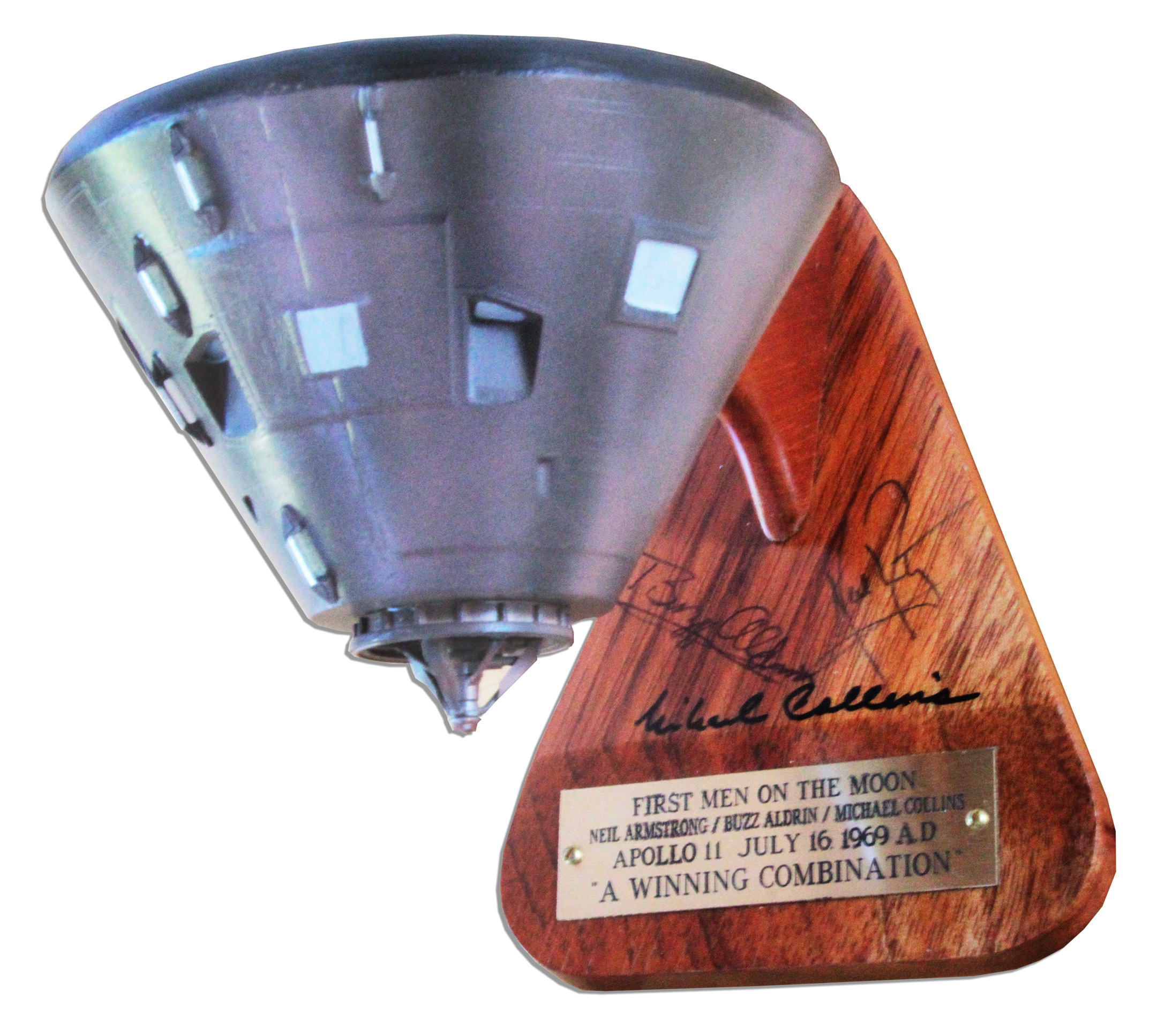 Lot Detail - Apollo 11 Crew Signed Model of the Command
