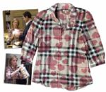 Julie Bowen Screen-Worn Burberry Blouse on Modern Family -- From the Hit Valentines Day Episode of The Shows First Season