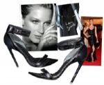 Supermodel Gisele Bundchen Signed Givenchy Heels -- Worn to the 2012 Met Gala With Husband Tom Brady -- With 8 x 10 Signed Photo of Gisele
