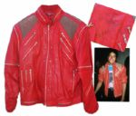 Michael Jacksons Iconic Beat It Stage-Worn Jacket -- Signed by the King of Pop in the Thriller Era in 1988