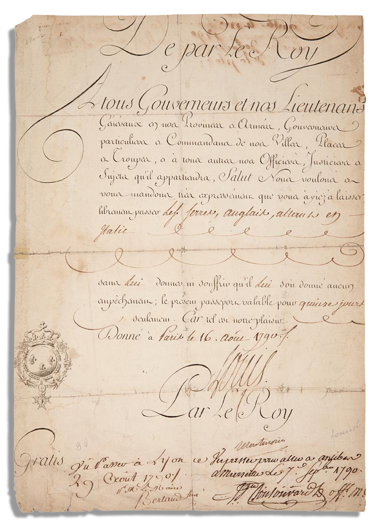 lot detail louis xvi 1790 document signed as king of france. Black Bedroom Furniture Sets. Home Design Ideas