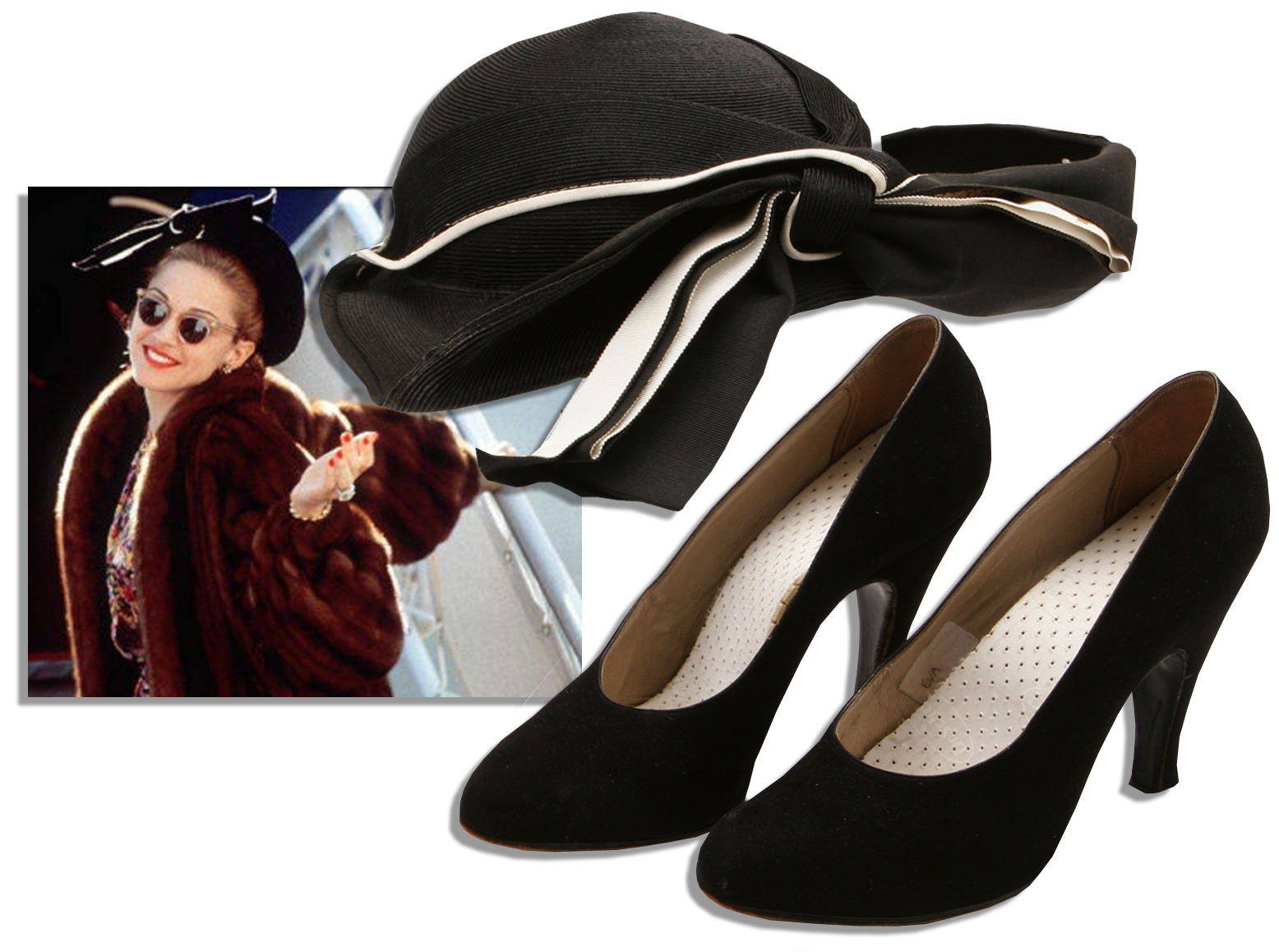 Madonna Memorabilia Shoes & Hat Worn by Madonna in ''Evita''