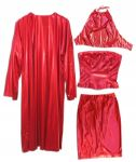 Cindy Crawford Screen-Worn Red Lame Wardrobe From Her Revlon Commercial