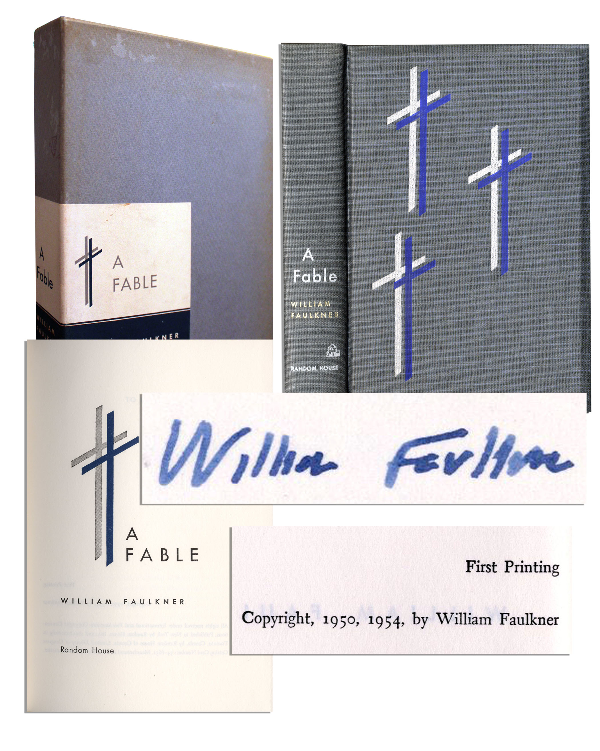 William Faulkner first edition William Faulkner Signed First Edition of Pulitzer Prize Winning Novel ''A Fable''