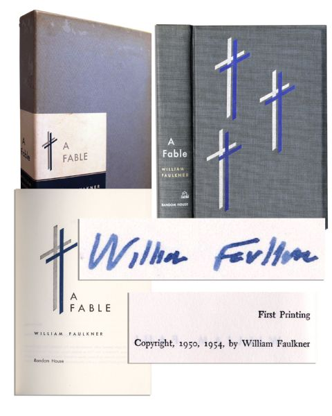 William Faulkner Signed First Edition of Pulitzer Prize Winning Novel ''A Fable''