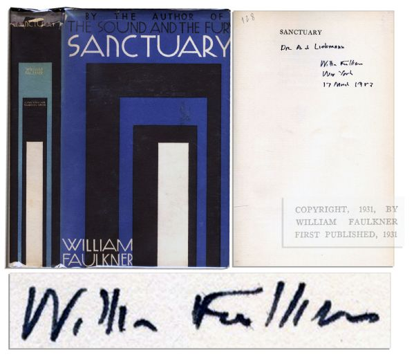 William Faulkner's Signed ''Sanctuary'' First Edition, First Printing -- In Scarce, Original Dustjacket