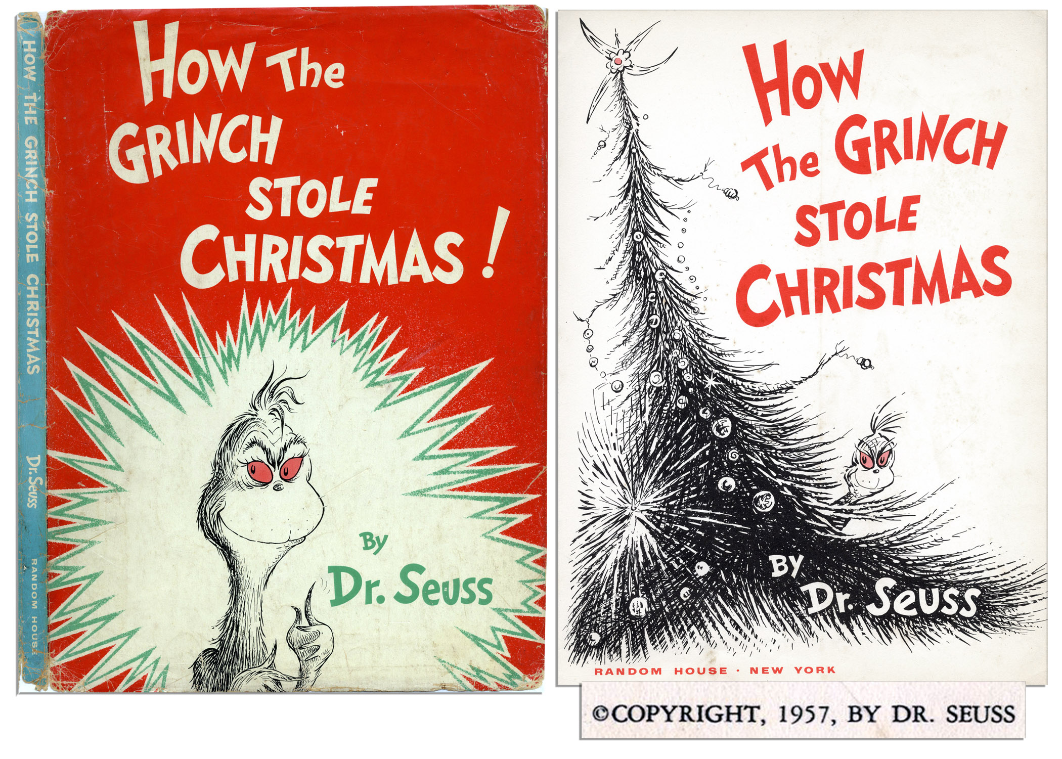 dr seuss how the grinch stole christmas first edition with first - How The Grinch Stole Christmas Book