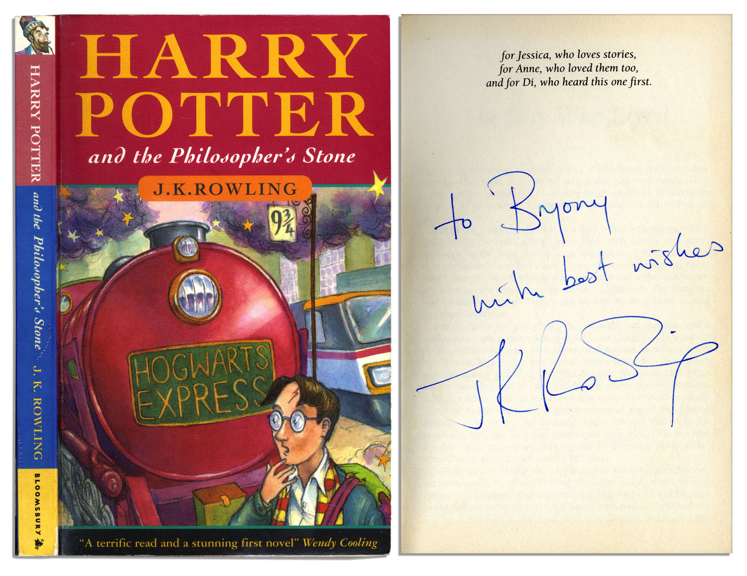 J K Rowling Signed First Edition Printing Of Harry Potter And The Philosopher S