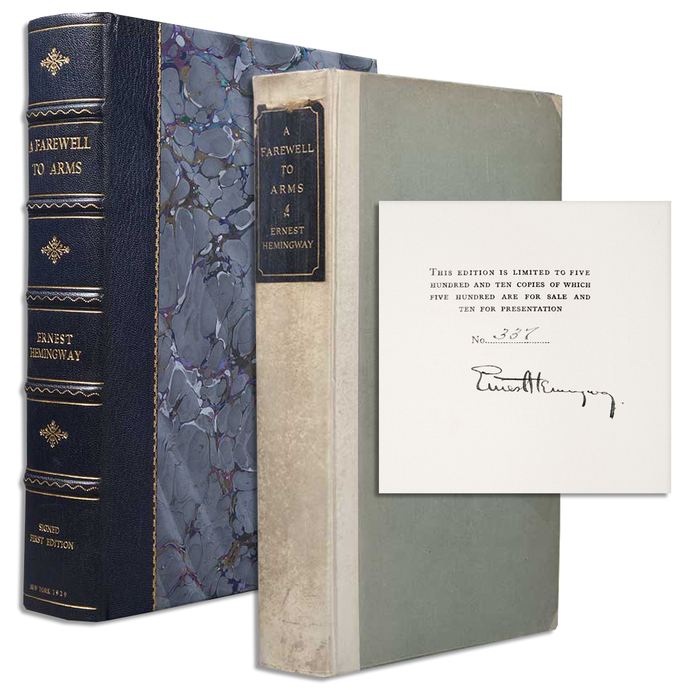 Ernest Hemingway First Edition Ernest Hemingway ''Farewell to Arms'' Limited Edition Signed