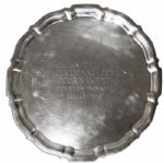 Arthur Ashe Winners Plate From the Palmas Del Mar Tournament in 1978 -- One of His Last Wins Before Retiring the Following Year