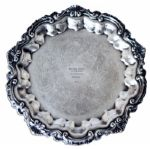 Arthur Ashe Tennis Trophy Plate From 1965 -- Awarded to the Young Star as a UCLA Student