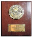 Arthur Ashes Armed Forces Interservice Award From 1968 -- The Year He Became the First African American Athlete to Win Mens Singles at The U.S. Open
