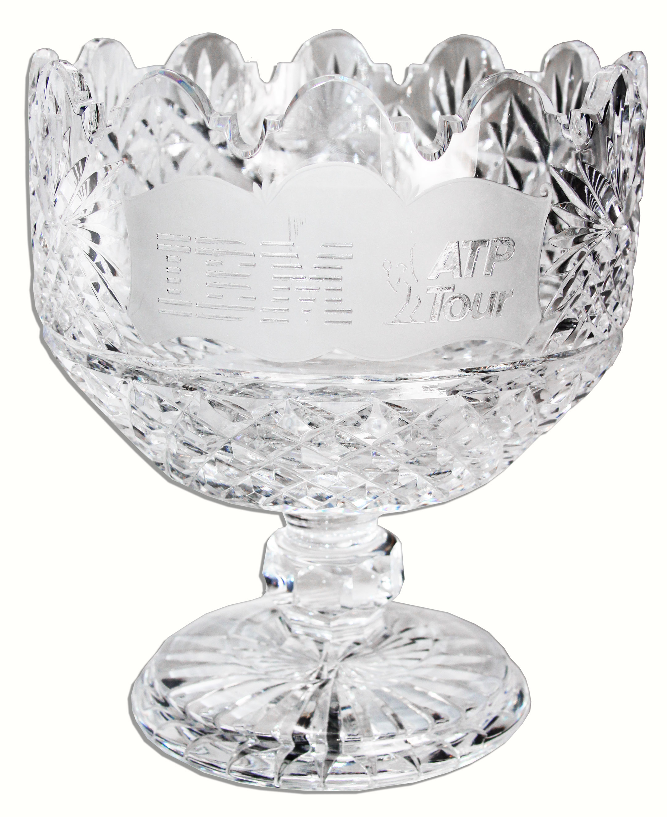 Lot Detail - Arthur Ashe\'s ATP Tour Chalice -- Waterford Crystal