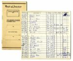 Arthur Ashes 1968 Personal Bank of America Check Ledger