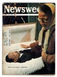 Newsweek Magazine Announcing The Death of Martin Luther King -- Kept by Arthur Ashe and Bearing His Name on Subscribers Mailing Label