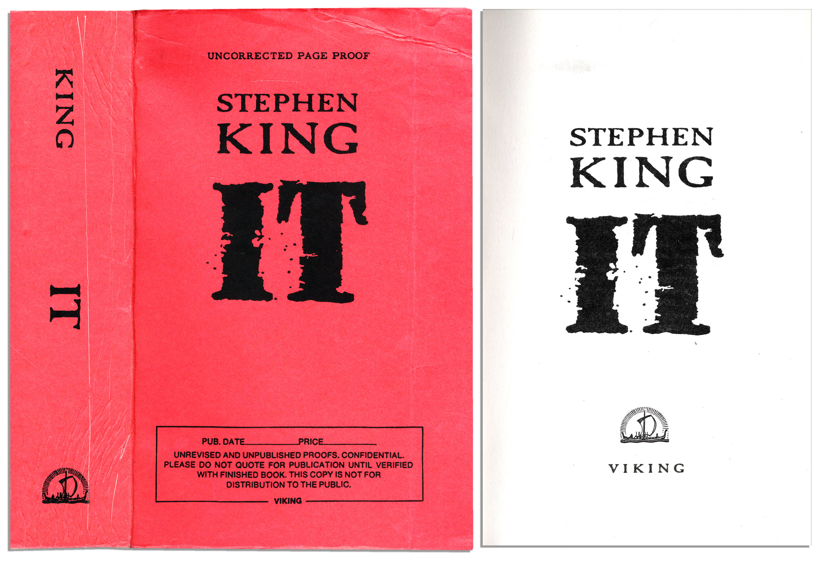 Stephen King IT 1986 First Edition Hard Cover Book W/ Slip Cover