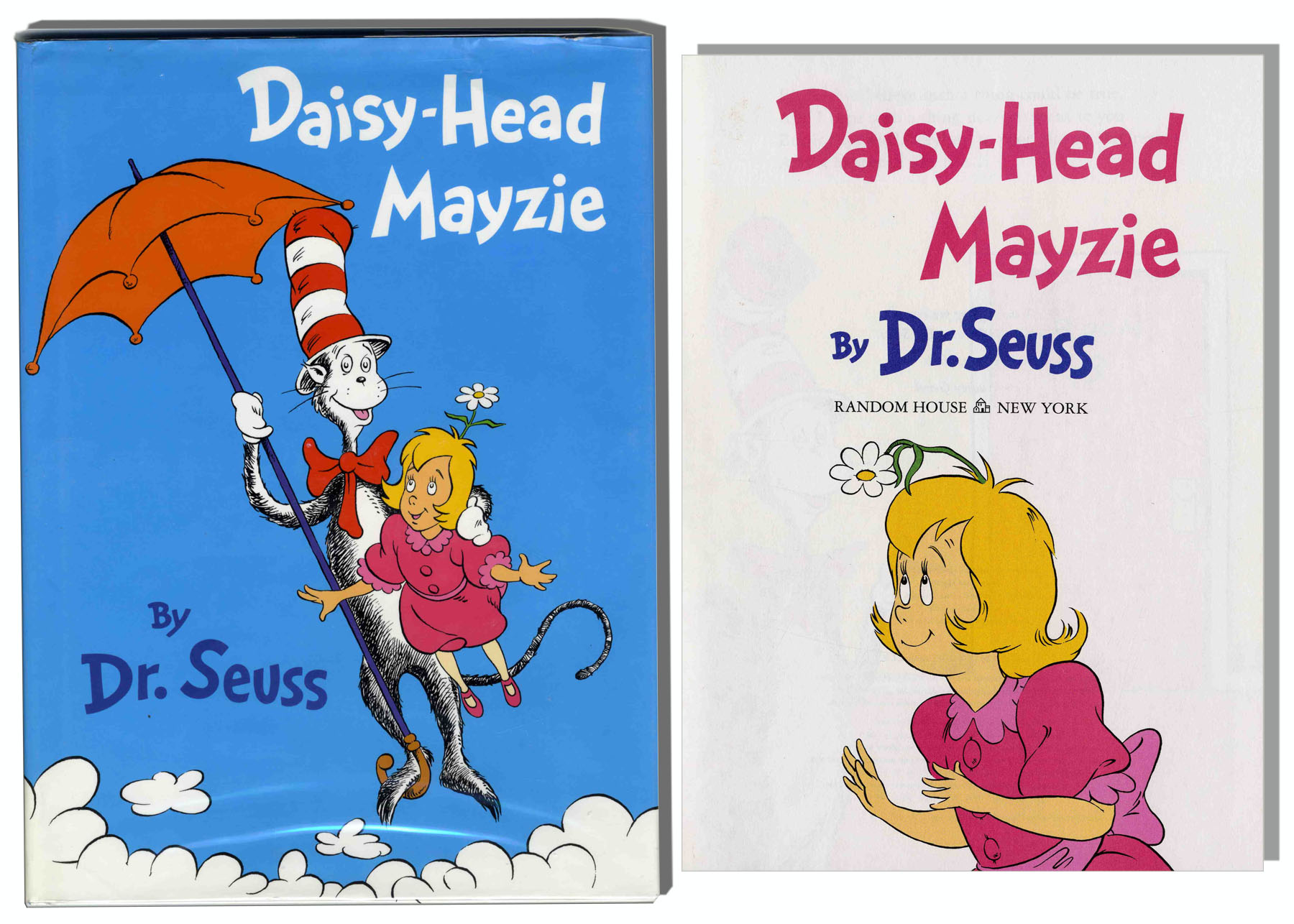 Dr seuss 39 39 daisy head mayzie 39 39 first edition first for Daisy head mayzie coloring pages