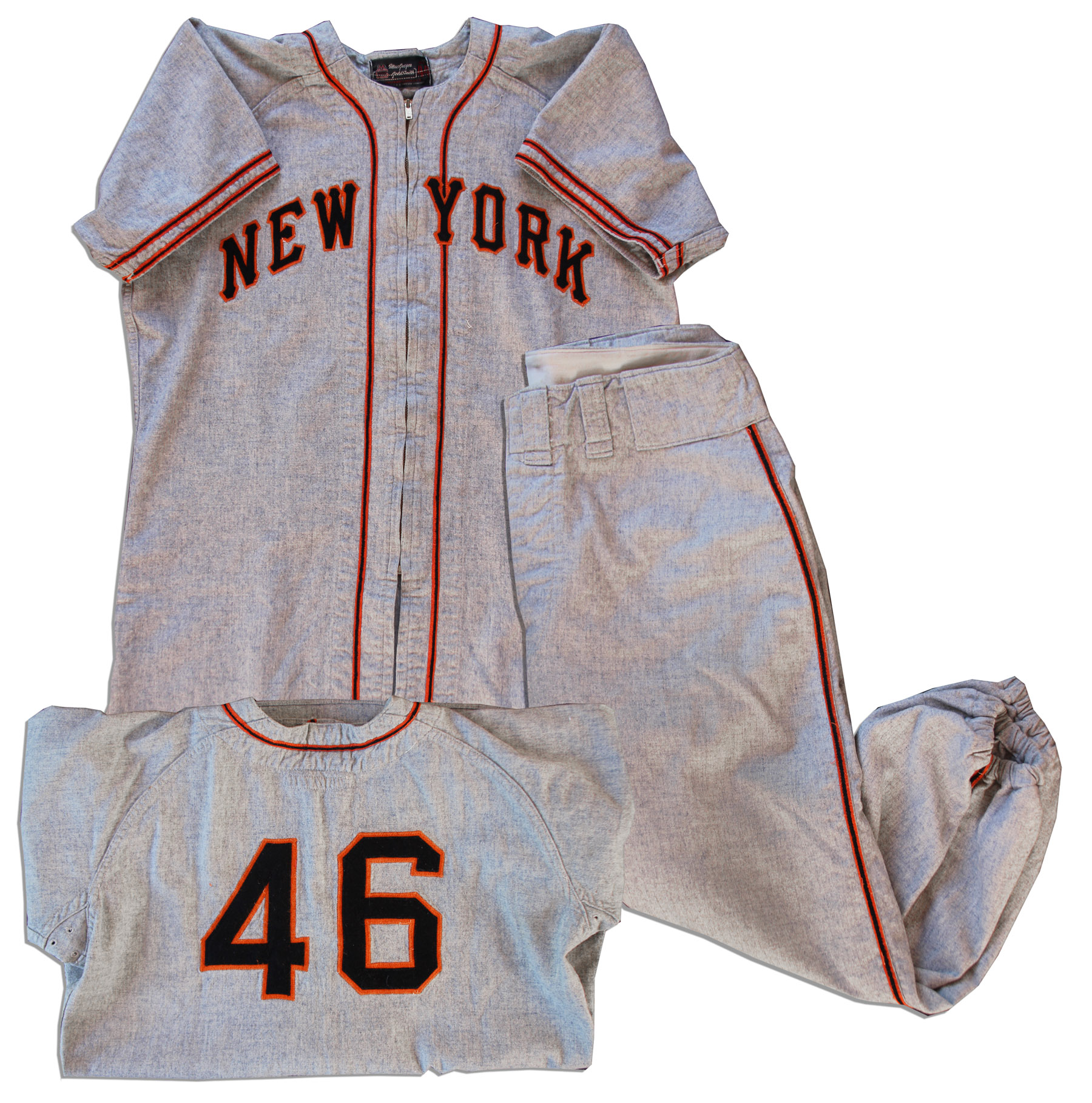 Lot Detail 1947 New York Giants Uniform From The Personal Estate