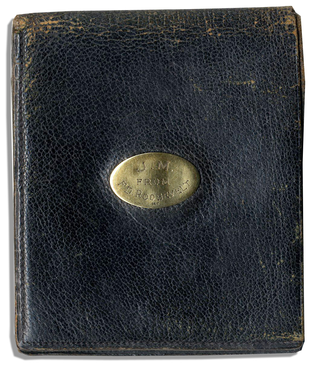 Franklin D. Roosevelt Memorabilia Franklin D. Roosevelt Christmas Gift to Majority Leader John McCormack -- Elegant Wallet Inscribed ''J.M. From F.D. Roosevelt''