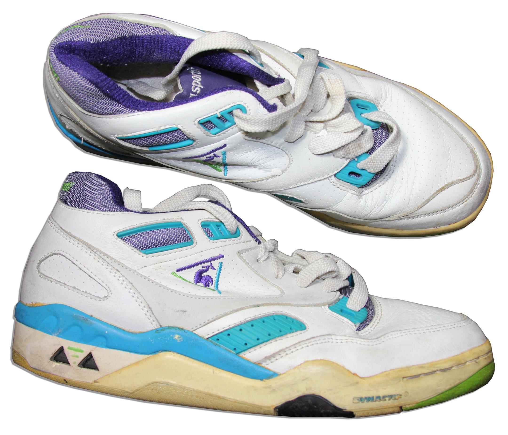lot detail arthur ashe s tennis shoes