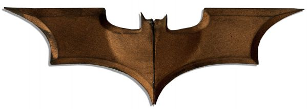 Iconic Bat Symbol ''Batarang'' Prop -- Used in The Production of  Hit Prequel ''Batman Begins''