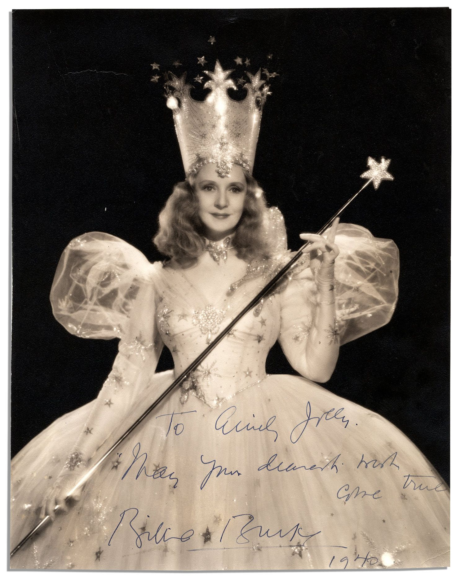Lot Detail - Billie Burke Signed Photo -- ''...May your dearest ...