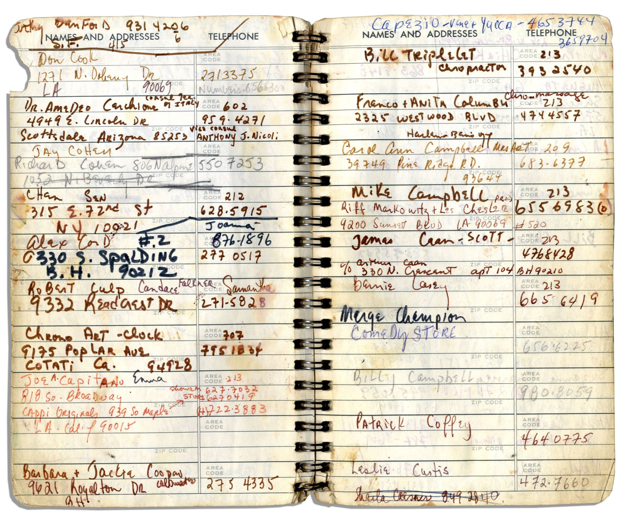 Lot Detail - Sammy Davis Jr 's Personal Address Book