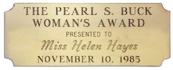 Pearl S. Buck Humanitarian Award Bestowed on Legendary Actress Helen Hayes