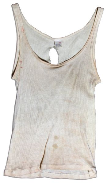 Bloodied Production-Used Tank Top for Milla Jovovich in ''Resident Evil: Extinction''