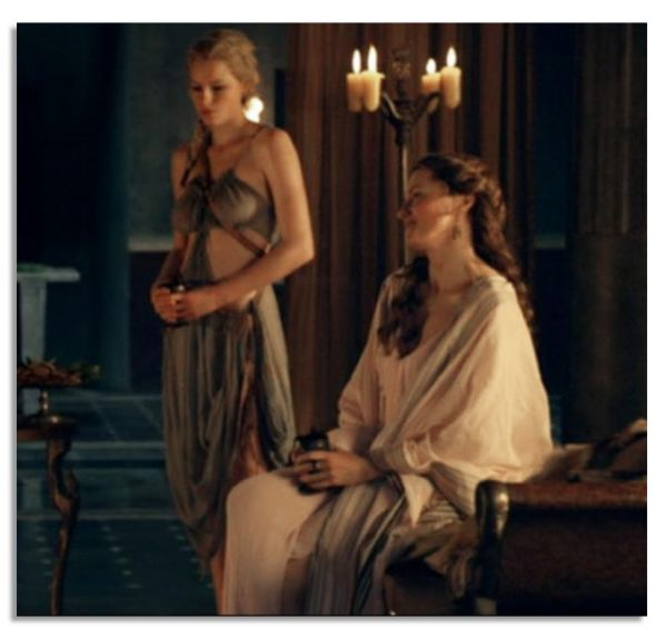 Lucy Lawless Screen-Worn Gown From the ''Spartacus'' Prequel, ''Gods of The Arena''