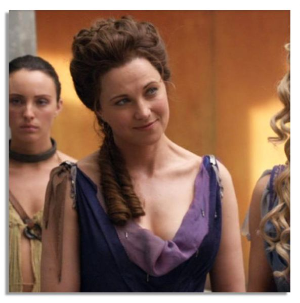 Lucy Lawless Screen-Worn Gown From the ''Spartacus'' TV Show Prequel, ''Gods of The Arena''