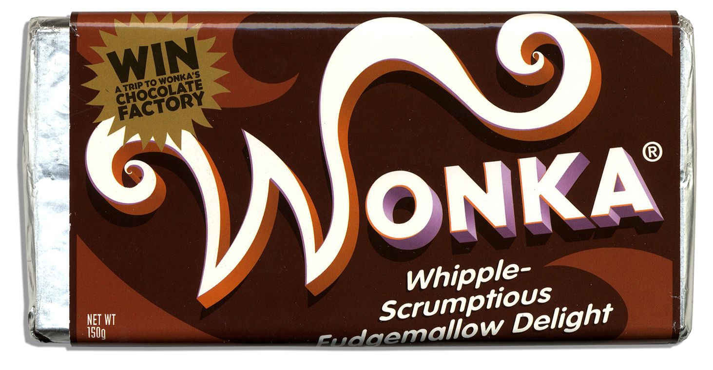 Lot detail willy wonka prop chocolate bar amp golden ticket used