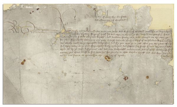 Incredibly Scarce Richard III Document Signed, Circa 1473 as Lord President of the Council of the North