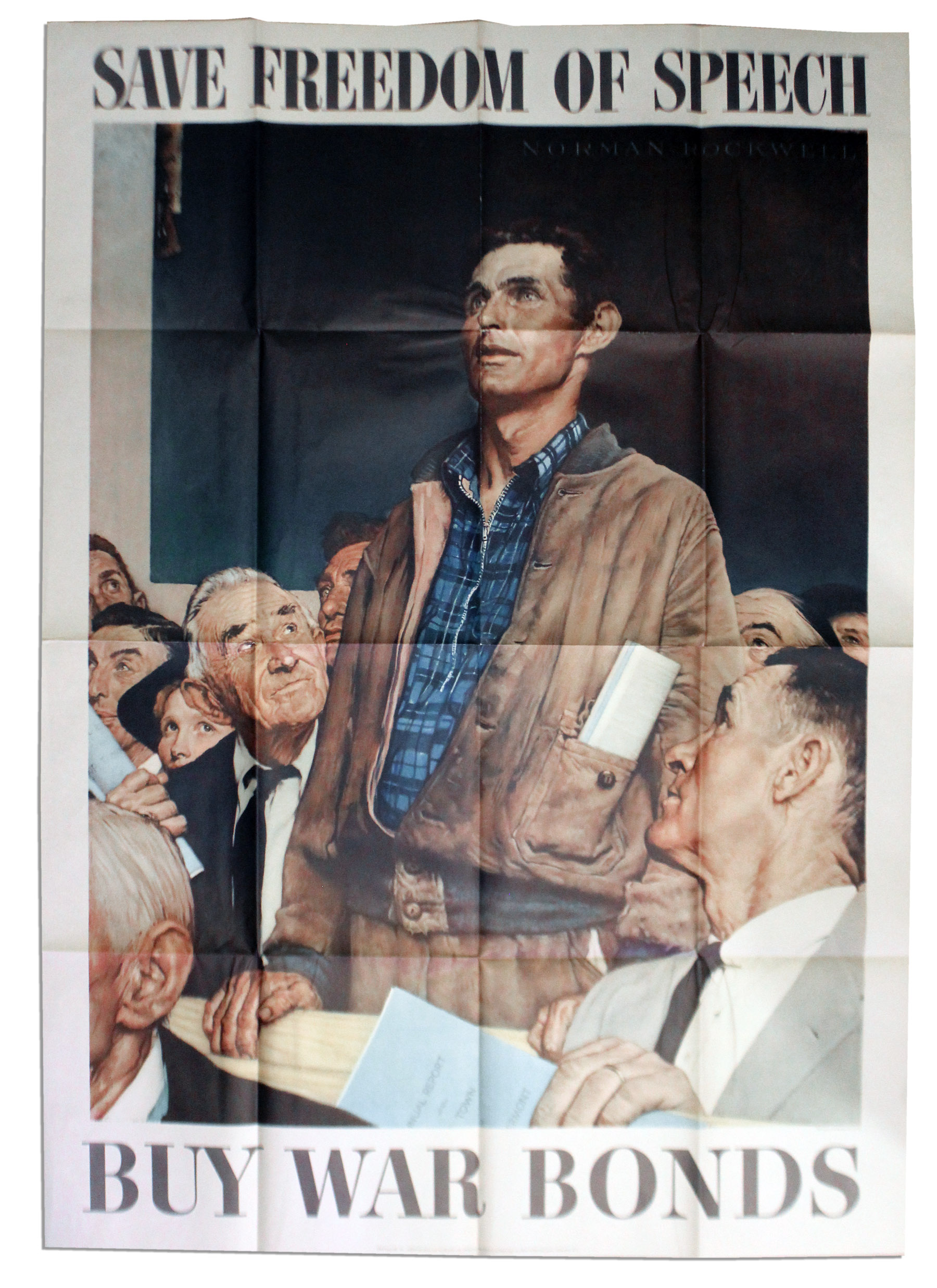 Lot Detail - Norman Rockwell's 1943 World War II ''Four Freedoms ...