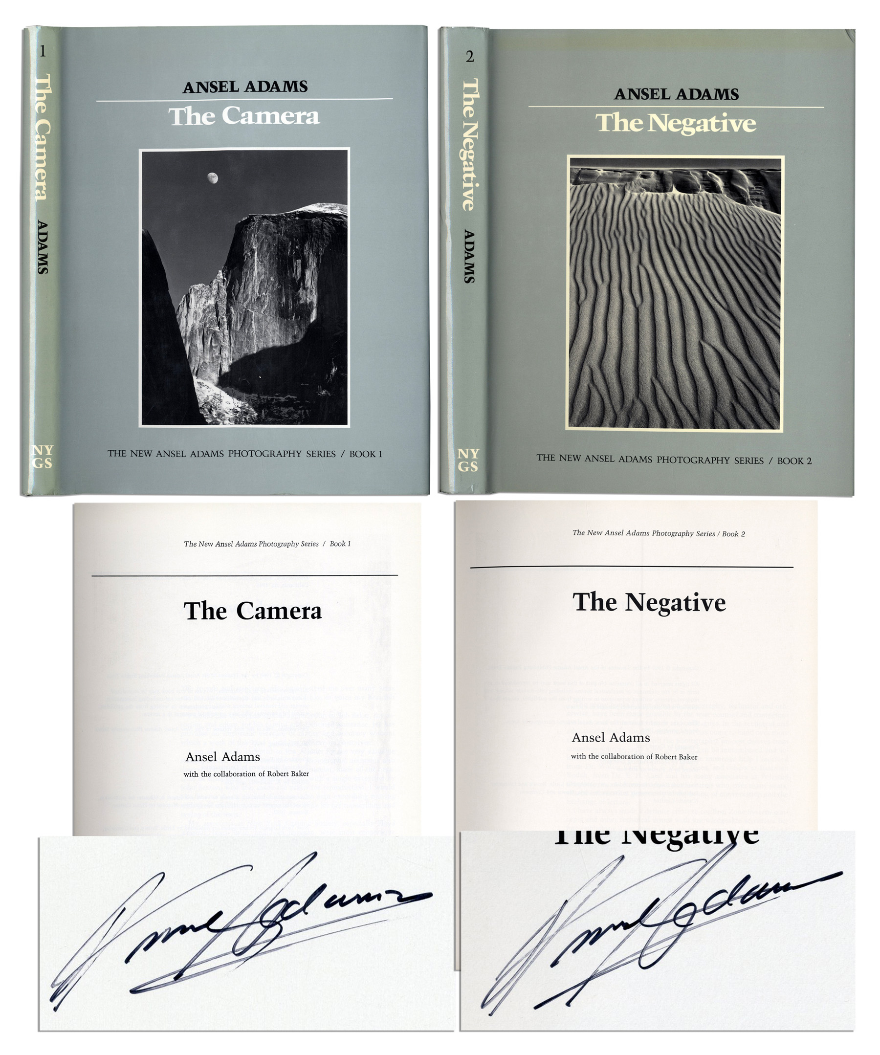 Ansel Adams Signs Two Volumes From The New Photography Series