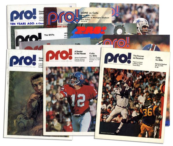 Collection of 10 Vintage Colts Programs From The 1970's