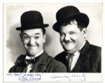 Comedy Legends Laurel & Hardy Signed 10 x 8 Photo