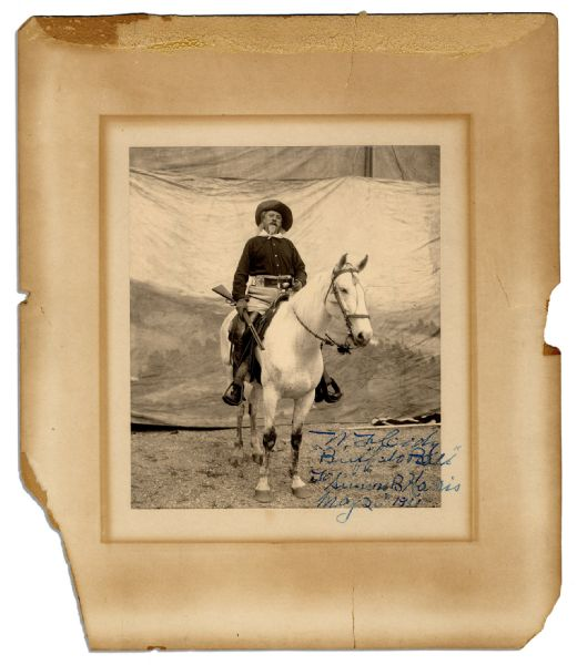 ''Buffalo Bill'' Cody Signed Photo -- Original 1900's Photo With Exceptional Sharp Contrast