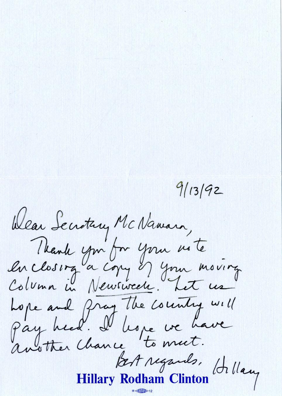 nasa letter to hillary clinton - photo #17