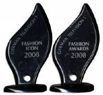 Pair of Screen-Used Fashion Awards Trophies From Sacha Baron Cohens Hit Satire Bruno