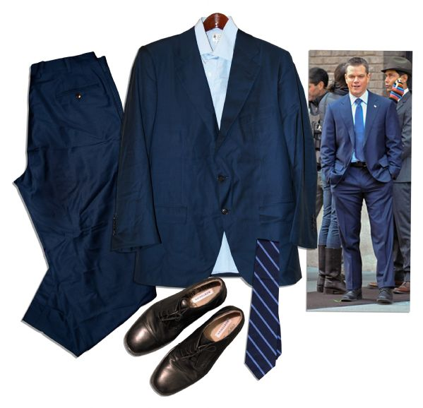 Matt Damon Screen-Worn Wardrobe From ''The Adjustment Bureau'' -- His Critically Acclaimed Thriller Based on a Story by Philip K. Dick