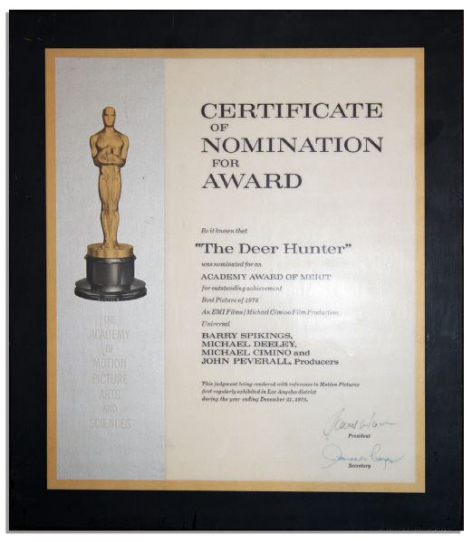 Best Picture Academy Award Nomination for ''The Deer Hunter'' -- ''The Deer Hunter'' Did Win Best Picture That Year