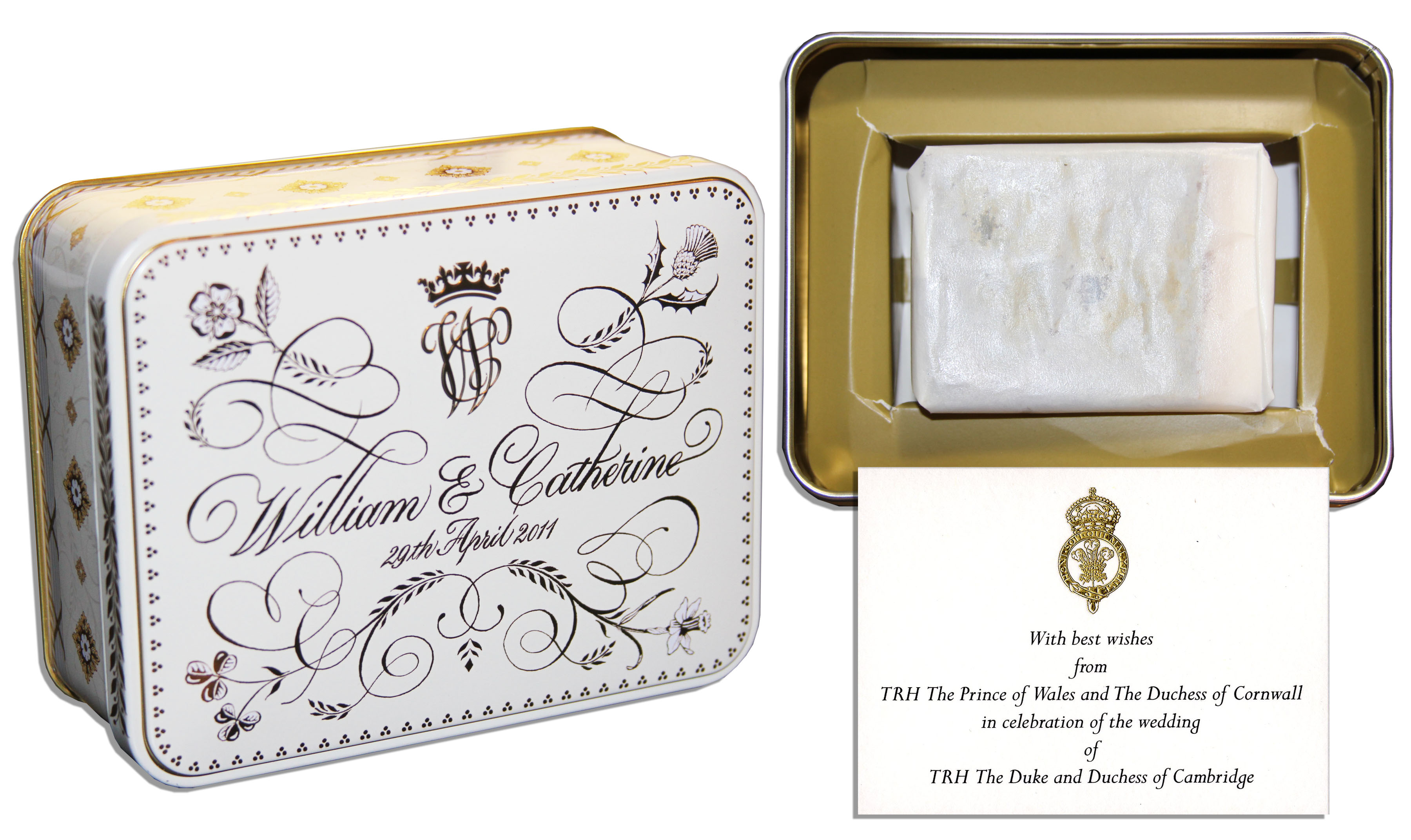 Lot Detail Slice of Prince William & Catherine s Royal
