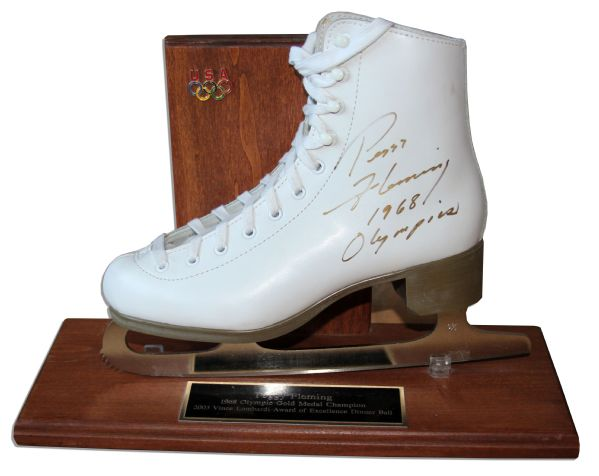World Champion Figure Skater Peggy Fleming Signed Ice Skate -- Fleming Won the USA Olympic Team's Only Gold Medal at the 1968 Winter Games